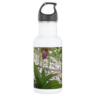 Pink lady slipper Orchid 18oz Water Bottle