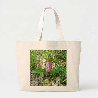 Pink Lady Slipper Wild Orchid Tote Bag