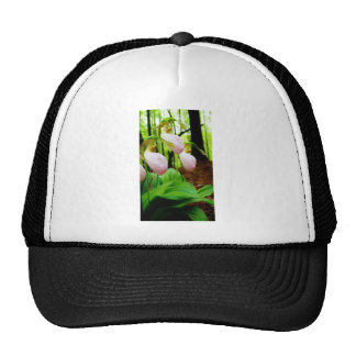 Pink Lady Slipper wild Orchid Trucker Hat