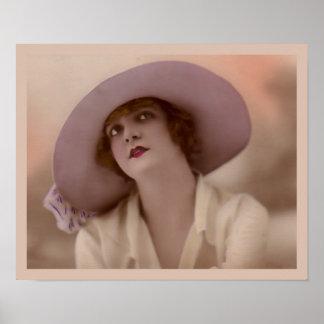 """Pink Lady"" Vintage Fashion Poster"