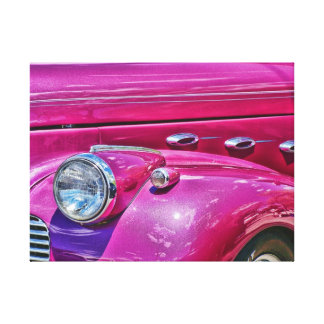 Pink Lady Wrapped Canvas Canvas Print