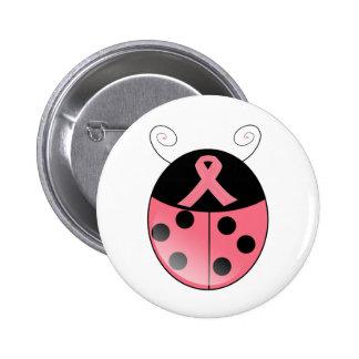 Pink Ladybug 2 Inch Round Button