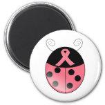 Pink Ladybug 2 Inch Round Magnet