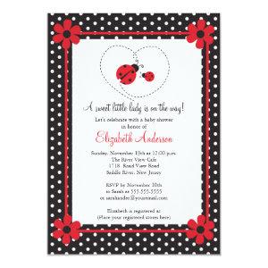 Ladybug baby shower invitations cute baby shower invitations ladybug baby shower invitations filmwisefo