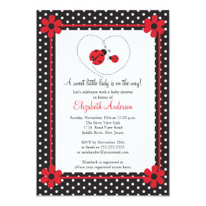 Attractive Ladybug Baby Shower Invitations