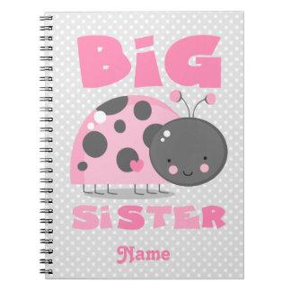 Pink Ladybug Big Sister Notebook