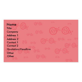 Pink Ladybug Business Card