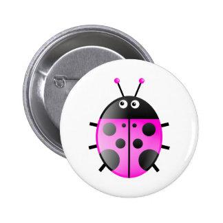 Pink Ladybug Button