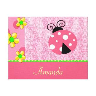 Pink Ladybug Canvas Print
