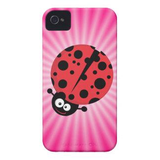 Pink Ladybug iPhone 4 Case-Mate Case