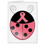 Pink Ladybug Greeting Card