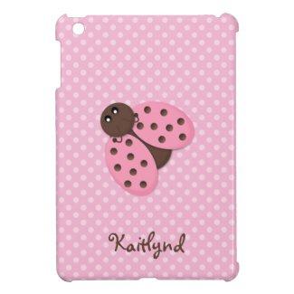 Pink Ladybug iPad Mini Cover