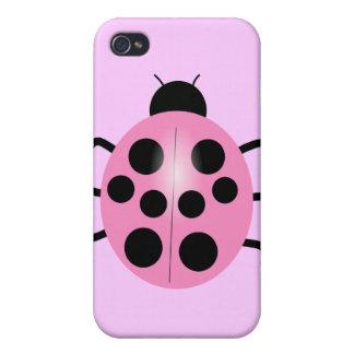 pink ladybug iPhone 4 cover