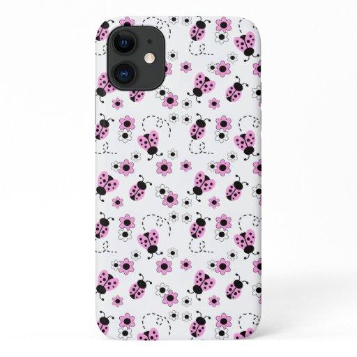 Pink Ladybug Ladybird Floral Girl iPhone 11 Case