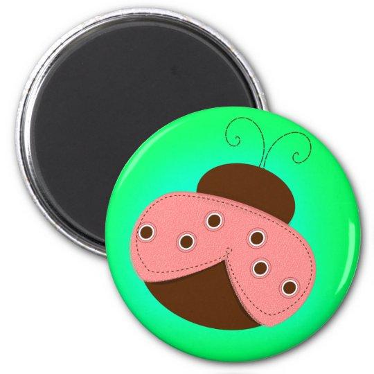 Pink Ladybug Magnet