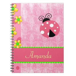 Pink Ladybug Notebook