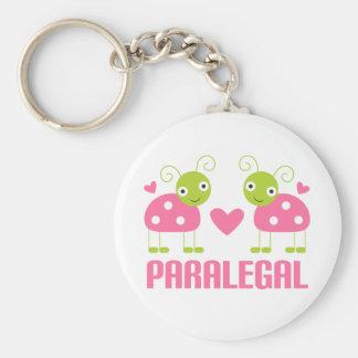 Pink Ladybug Paralegal Gift Basic Round Button Keychain