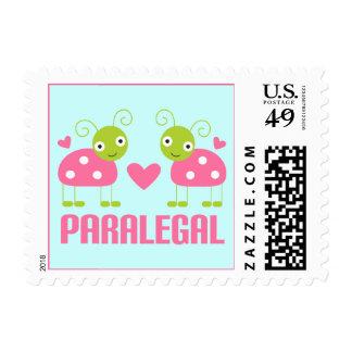 Pink Ladybug Paralegal Gift Postage