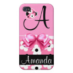 Pink Ladybug: Personalize iPhone 4 Covers
