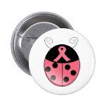 Pink Ladybug Pinback Button