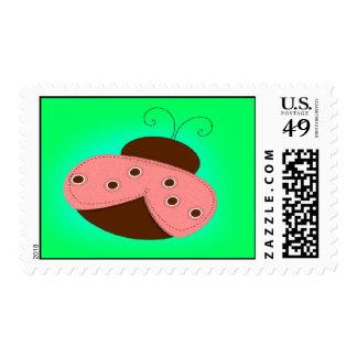 Pink Ladybug Stamp