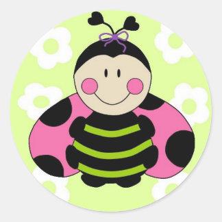 Pink Ladybug Sticker