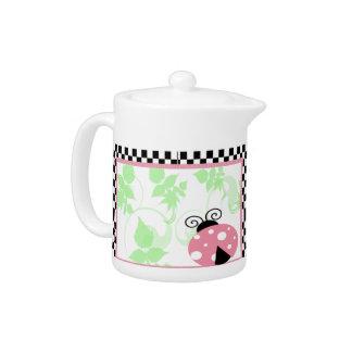 Pink Ladybug Teapot