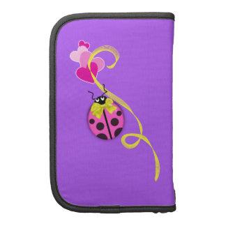 Pink Ladybug Yellow Ribbon Planner