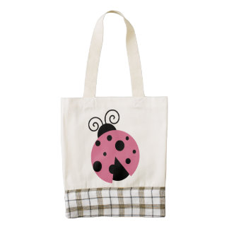 Pink Ladybug Zazzle HEART Tote Bag