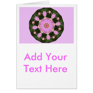 Pink Ladybugs Dancing Queen Bee Pink Orchid Card
