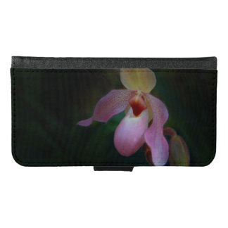 Pink Lady's Slipper Orchid Wallet Phone Case For Samsung Galaxy S6