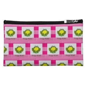 Pink LaKermese Festival Frog Cosmetic Bag
