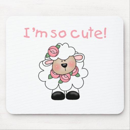 Pink Lamb I'm so Cute Mouse Pad