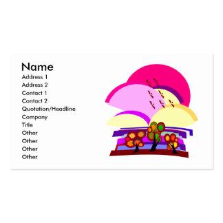 Pink Landscape Business Cards