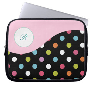 Pink Laptop Monogram Sleeve