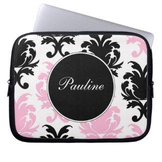 Pink Laptop Monogram Sleeves Laptop Sleeve