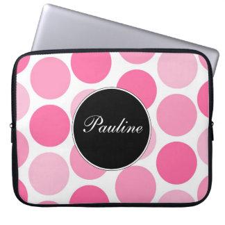 Pink Laptop Monogram Sleeves Computer Sleeve