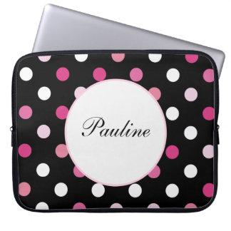 Pink Laptop Monogram Sleeves Laptop Sleeves