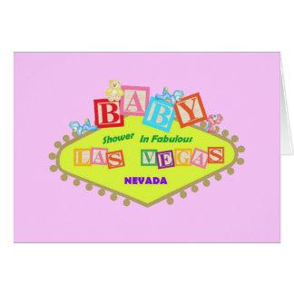 PINK Las Vegas Baby Shower Card
