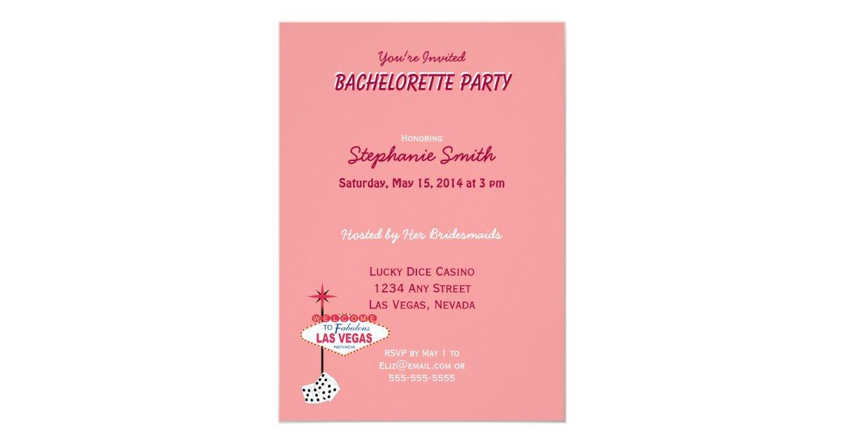 Cute Las Vegas Bachelorette Party Invitations Contemporary ...