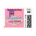 Pink Las Vegas Bachelorette Party stamp
