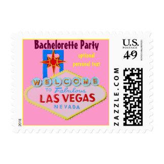 Pink Las Vegas Bachelorette Party Postage