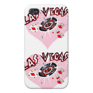Pink Las Vegas Hearts iPhone 4 Cases