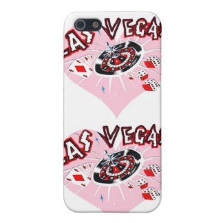 Pink Las Vegas Hearts iPhone SE/5/5s Cover