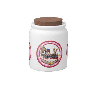 Pink Las Vegas Poker Chip Candy Jars