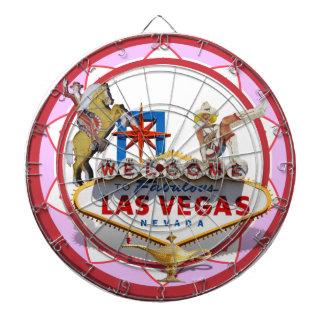 Pink Las Vegas Poker Chip Dartboard