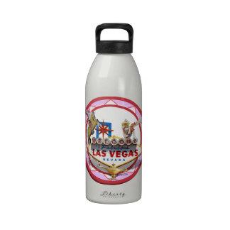 Pink Las Vegas Poker Chip Water Bottle