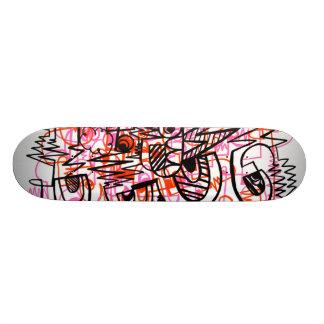 Pink Lasers Skateboard Deck