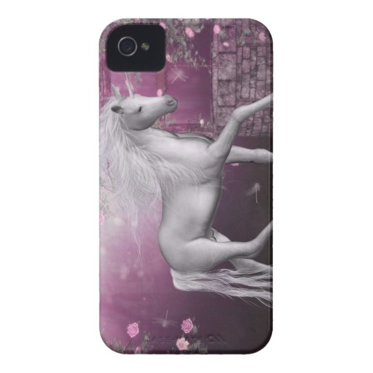 pink last unicorn iPhone 4 Case-Mate case