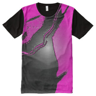 Pink Latex All-Over Printed T-Shirt